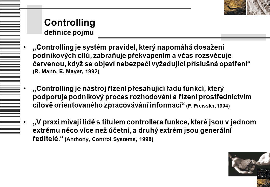 """Controlling definice pojmu """"Controlling je systém pravidel, který napomáhá dosažení podnikových cílů, zabraňuje překvapením a včas rozsvěcuje červenou"""