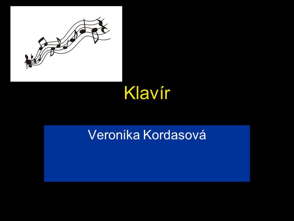 Klavír Veronika Kordasová