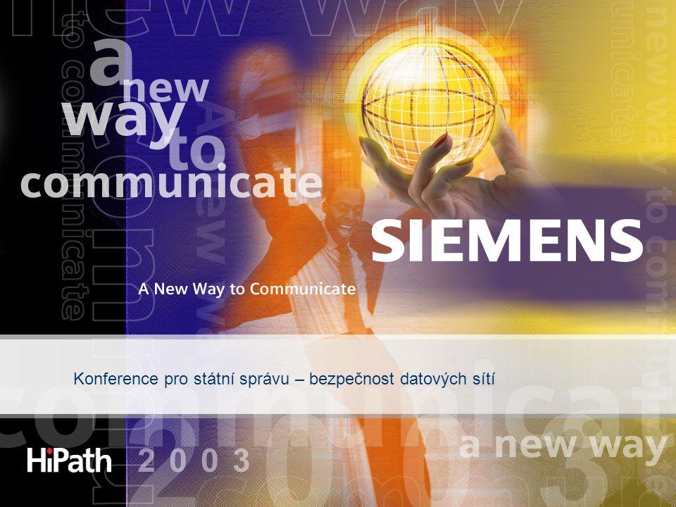 Konference pro státní správu – bezpečnost datových sítí