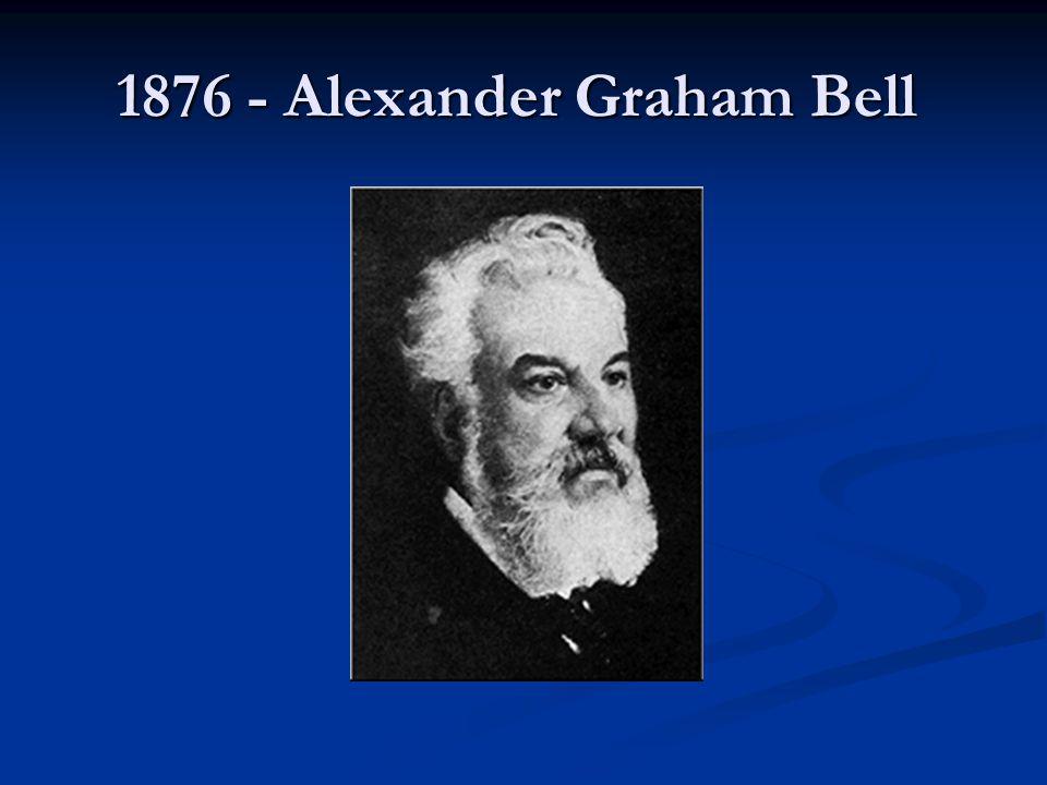 1876 - Alexander Graham Bell