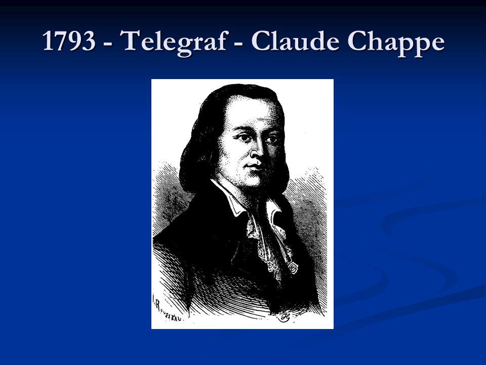 1793 - Telegraf - Claude Chappe