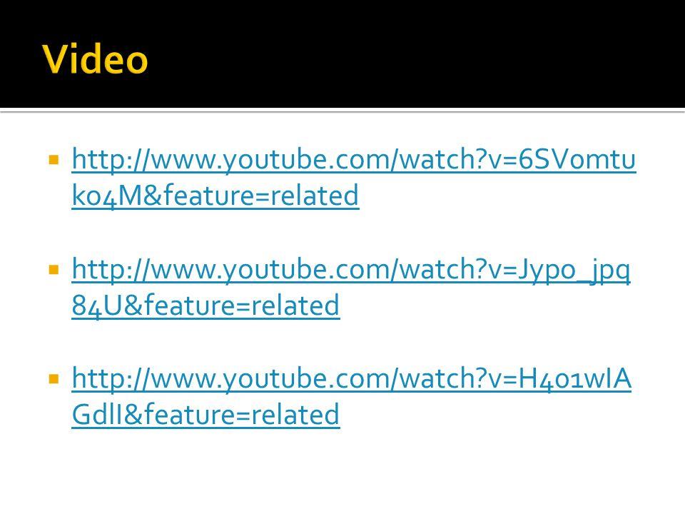  http://www.youtube.com/watch v=6SV0mtu ko4M&feature=related http://www.youtube.com/watch v=6SV0mtu ko4M&feature=related  http://www.youtube.com/watch v=Jypo_jpq 84U&feature=related http://www.youtube.com/watch v=Jypo_jpq 84U&feature=related  http://www.youtube.com/watch v=H401wIA GdlI&feature=related http://www.youtube.com/watch v=H401wIA GdlI&feature=related