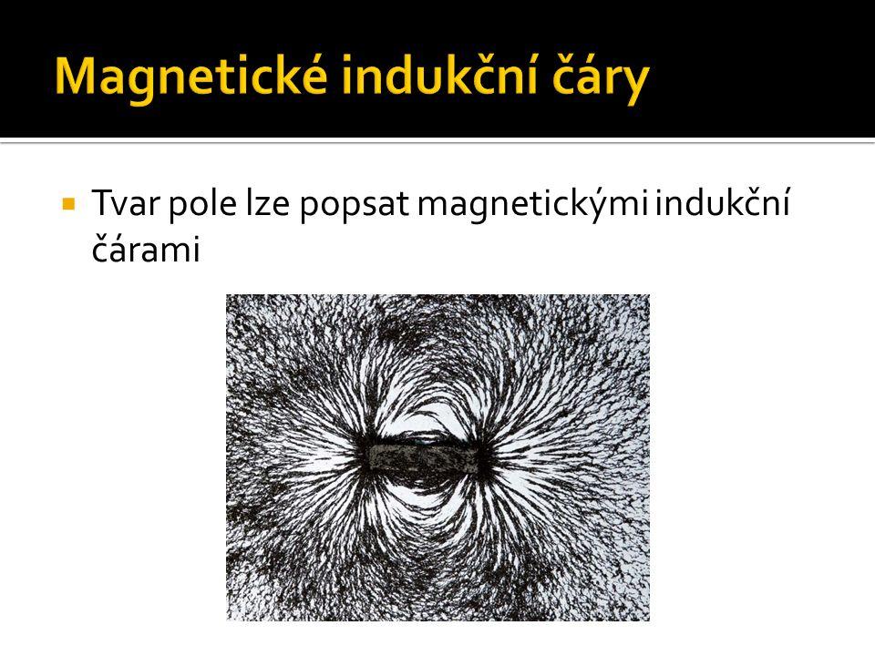  Tvar pole lze popsat magnetickými indukční čárami