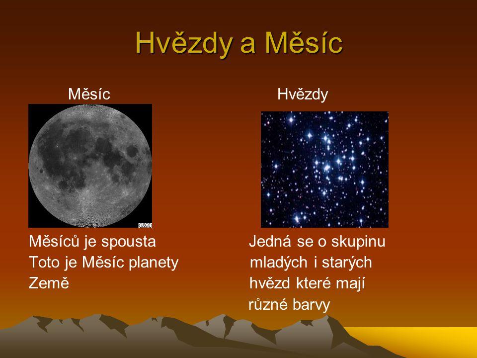Hvězdy a Měsíc Měsíc Hvězdy Měsíců je spousta Jedná se o skupinu Toto je Měsíc planety mladých i starých Země hvězd které mají různé barvy