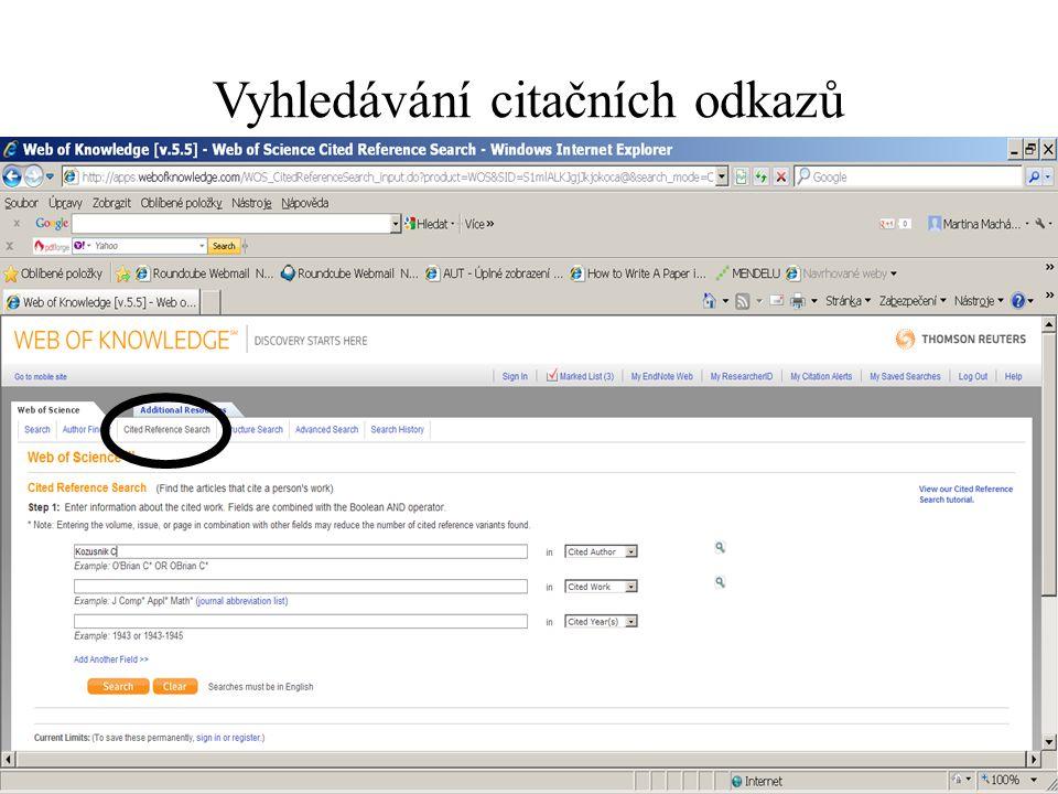 Provést výběr + finish search