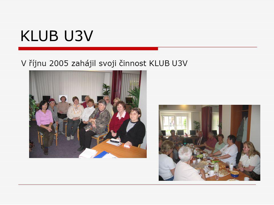 KLUB U3V V říjnu 2005 zahájil svoji činnost KLUB U3V