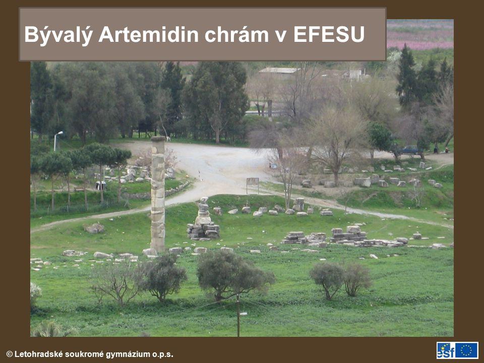 Bývalý Artemidin chrám v EFESU