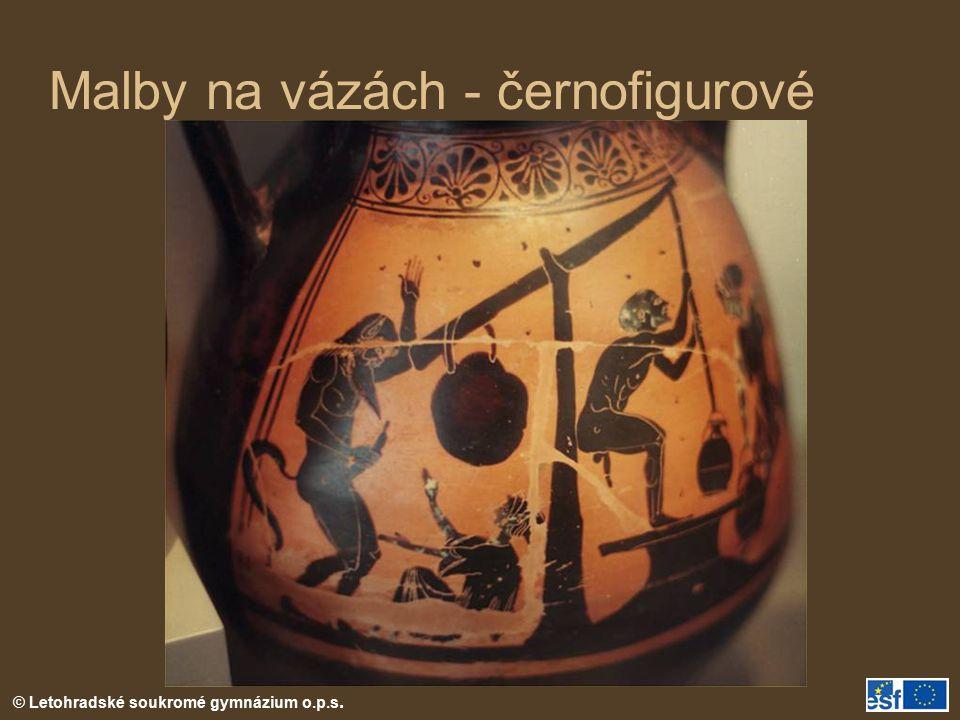 © Letohradské soukromé gymnázium o.p.s. Malby na vázách - černofigurové