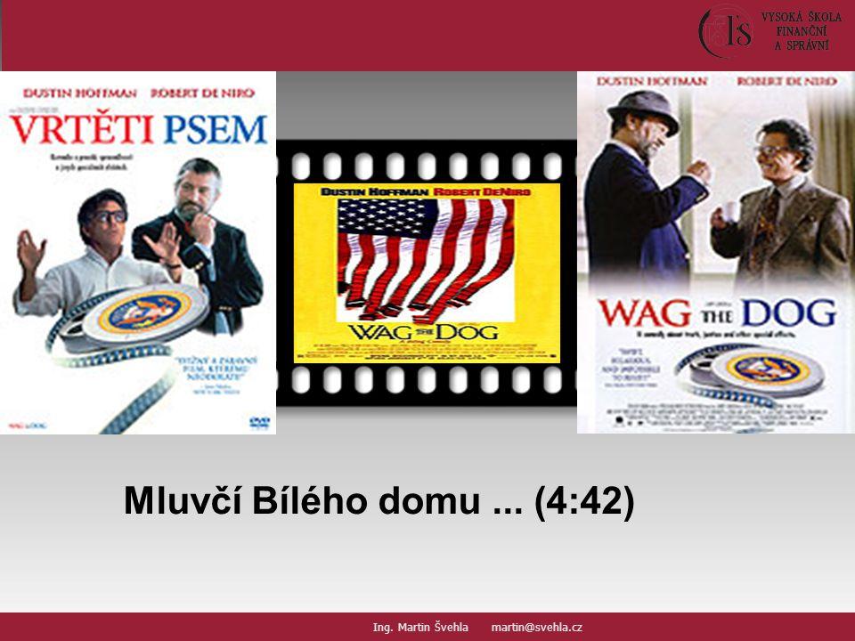 Mluvčí Bílého domu... (4:42) Your picture here Ing. Martin Švehla martin@svehla.cz