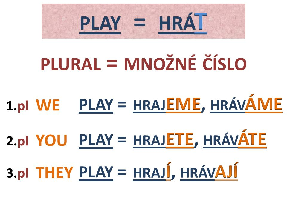 PLAY WE 3.pl 1.pl PLAY YOU 2.pl THEY PLURAL = MNOŽNÉ ČÍSLO = = =