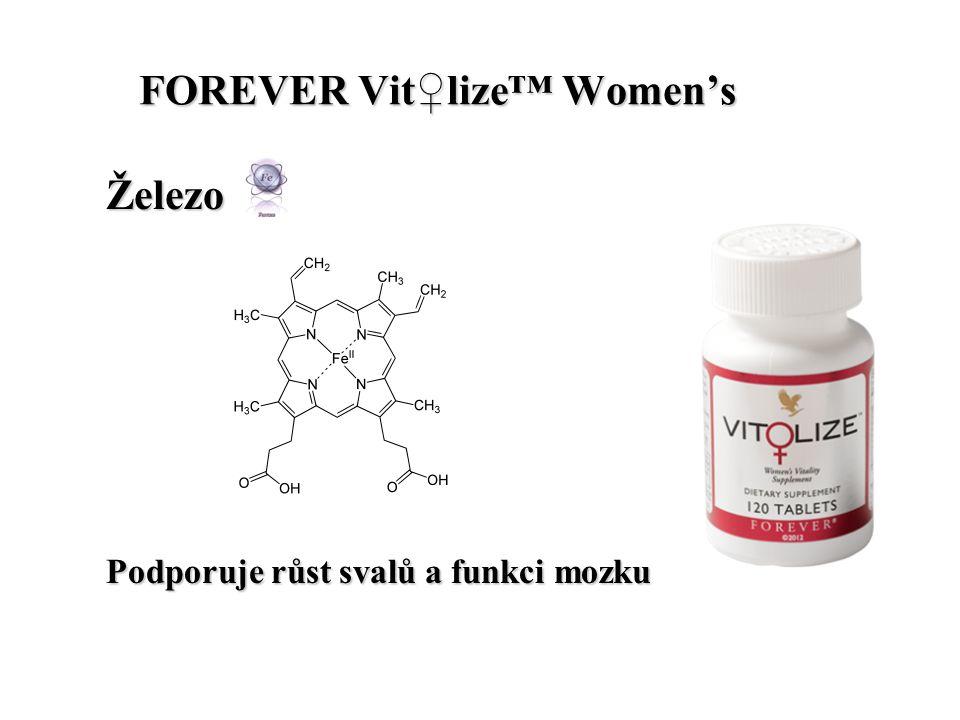 FOREVER Vit♀lize™ Women's FOREVER Vit♀lize™ Women's Železo Podporuje růst svalů a funkci mozku