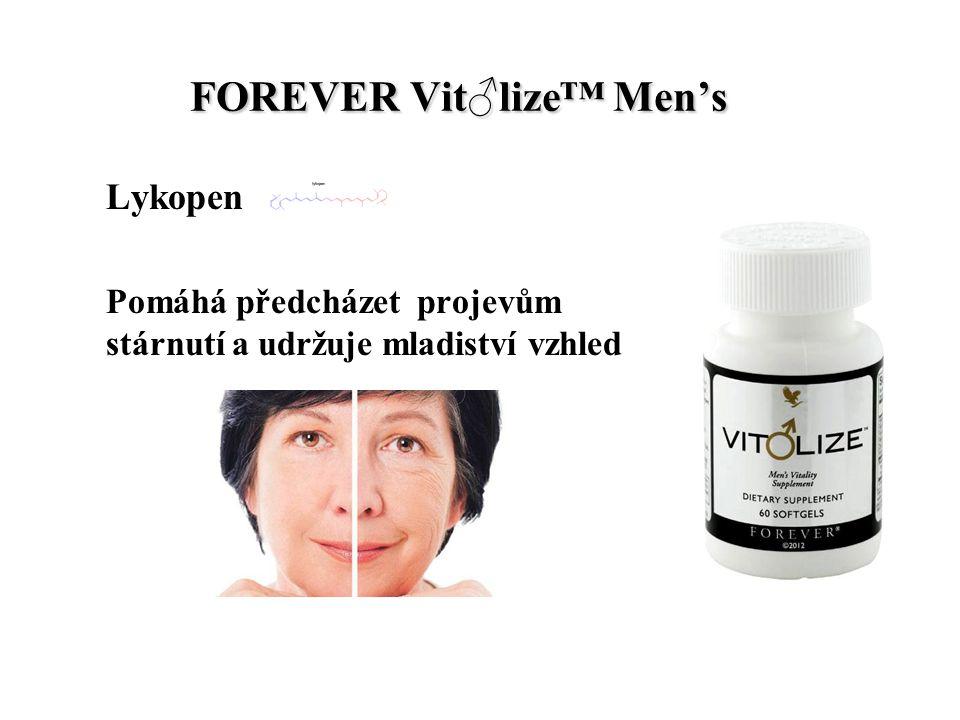 FOREVER Vit♂lize™ Men's FOREVER Vit♂lize™ Men's Lykopen Pomáhá předcházet projevům stárnutí a udržuje mladiství vzhled