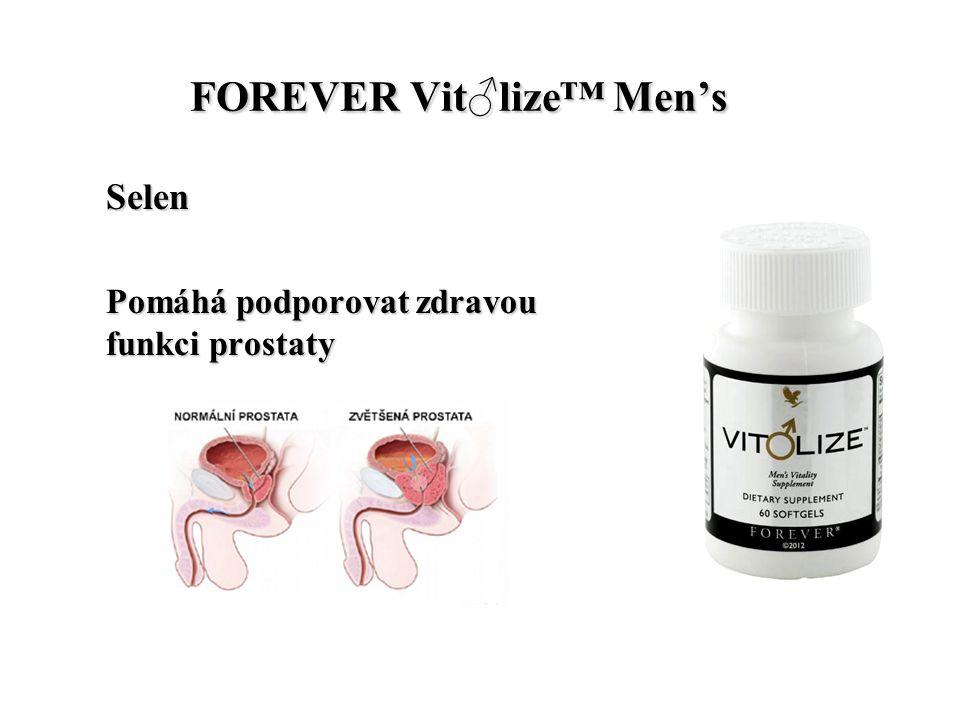 FOREVER Vit♂lize™ Men's FOREVER Vit♂lize™ Men's Selen Pomáhá podporovat zdravou funkci prostaty