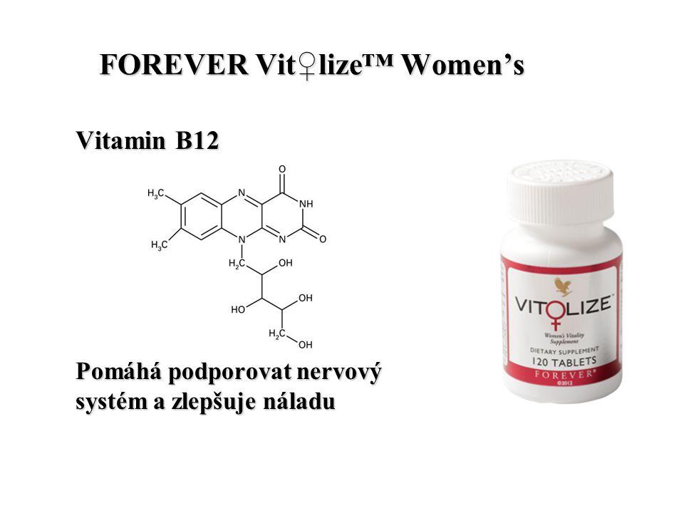 FOREVER Vit♀lize™ Women's FOREVER Vit♀lize™ Women's Vitamin B6 Pomáhá udržovat stabilní hladinu estrogenu a podporuje zdravou funkci menstruace.