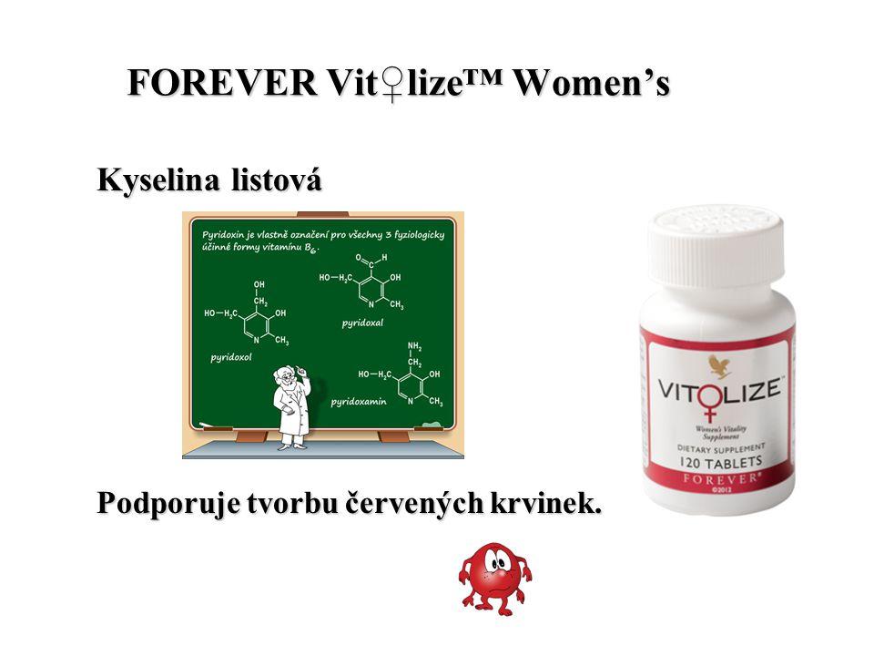 FOREVER Vit♀lize™ Women's FOREVER Vit♀lize™ Women's Kyselina listová Podporuje tvorbu červených krvinek.