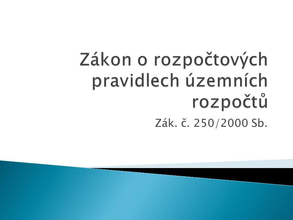 Zák. č. 250/2000 Sb.
