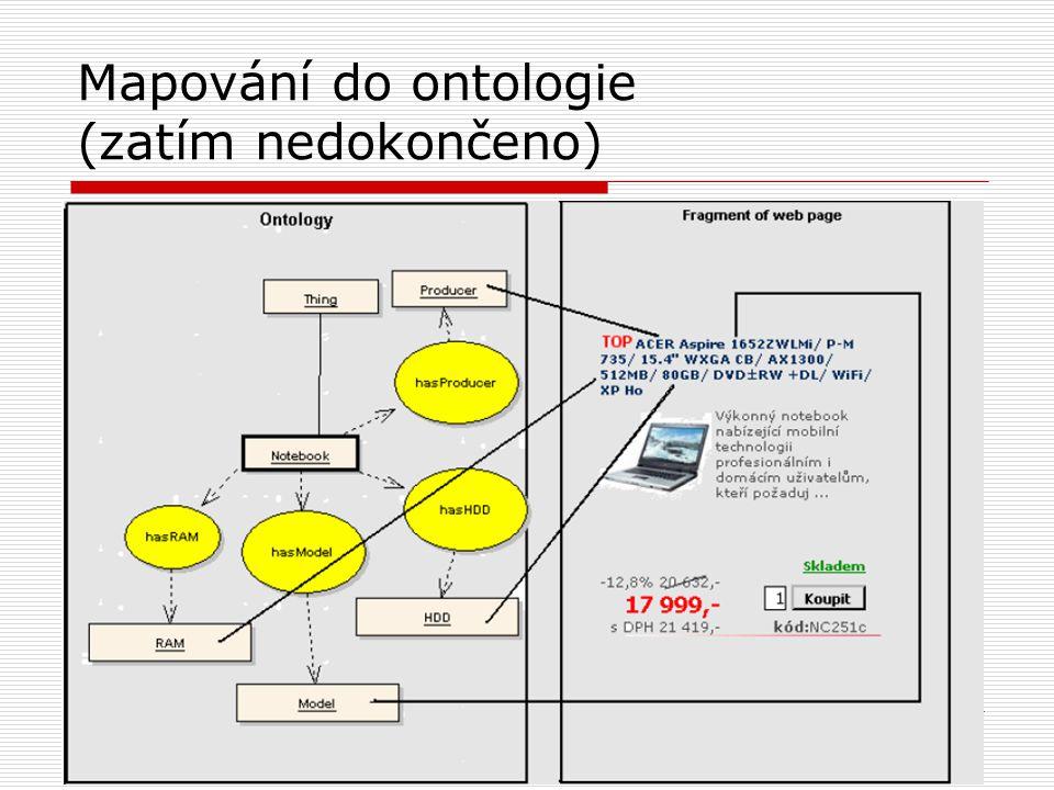 19 Mapování do ontologie (zatím nedokončeno)