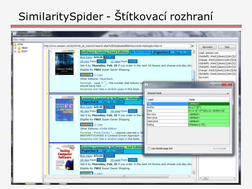 25 SimilaritySpider - Štítkovací rozhraní