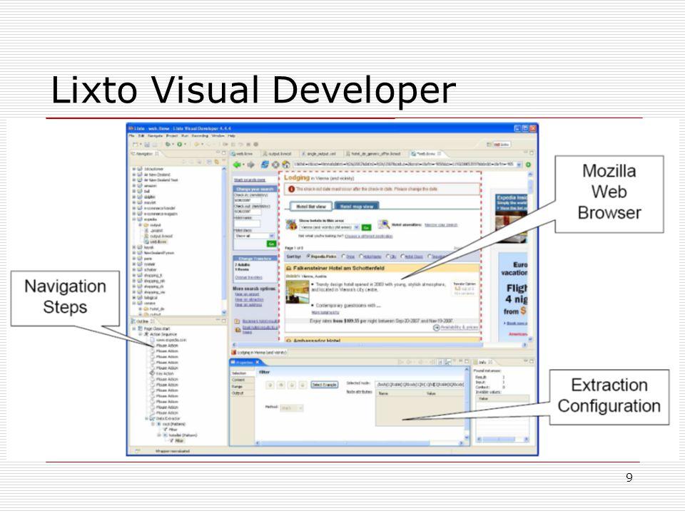 9 Lixto Visual Developer