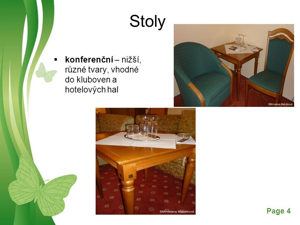 Free Powerpoint TemplatesPage 4 Stoly  konferenční – nižší, různé tvary, vhodné do kluboven a hotelových hal