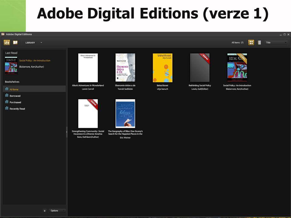Adobe Digital Editions (verze 1)