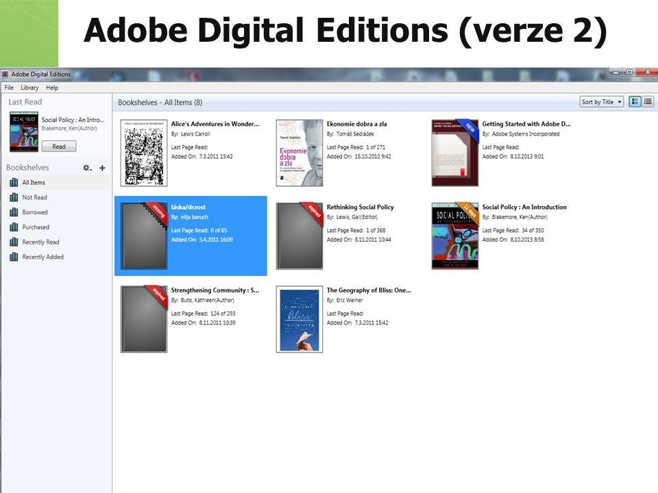 Adobe Digital Editions (verze 2)