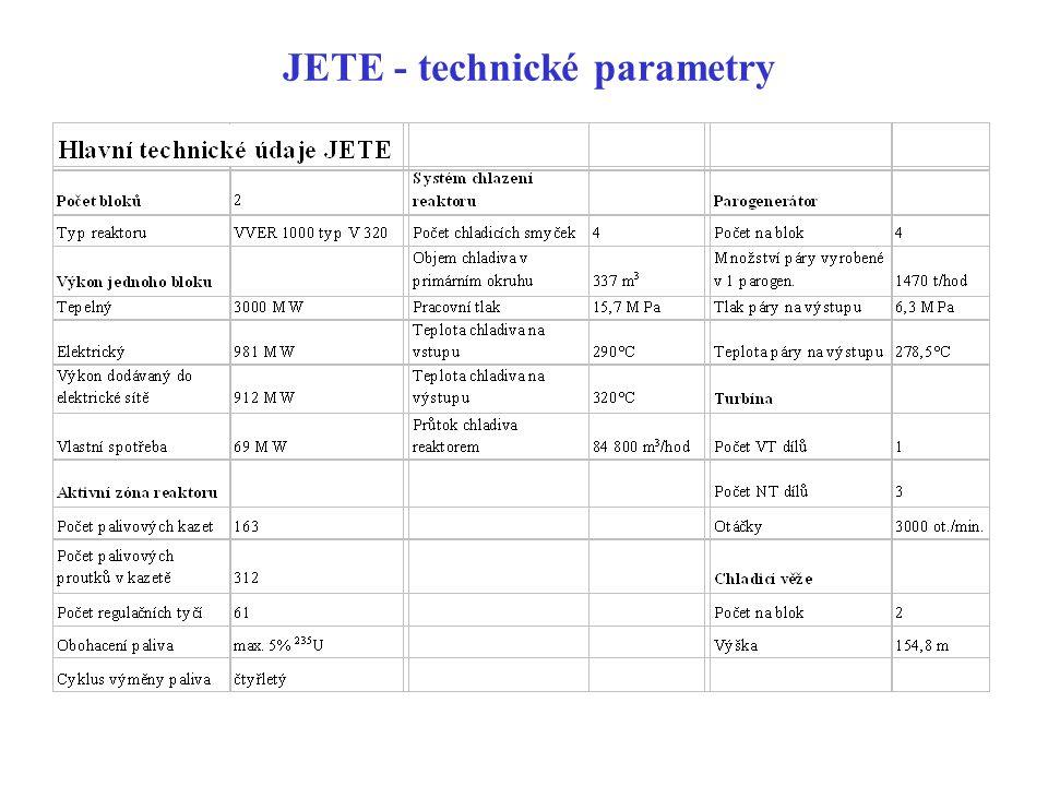 JETE - technické parametry