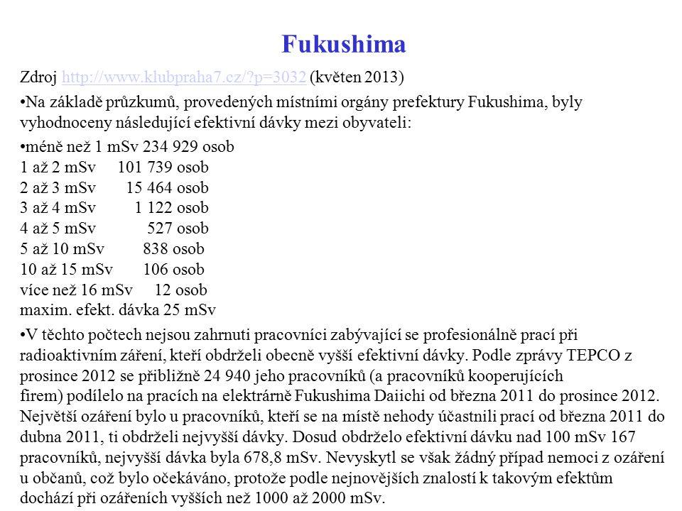 Fukushima Zdroj http://www.klubpraha7.cz/?p=3032 (květen 2013)http://www.klubpraha7.cz/?p=3032 Na základě průzkumů, provedených místními orgány prefek