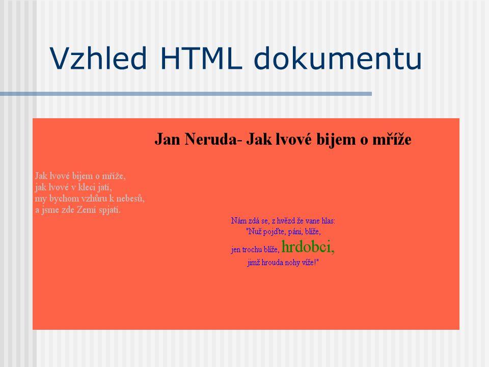 Vzhled HTML dokumentu