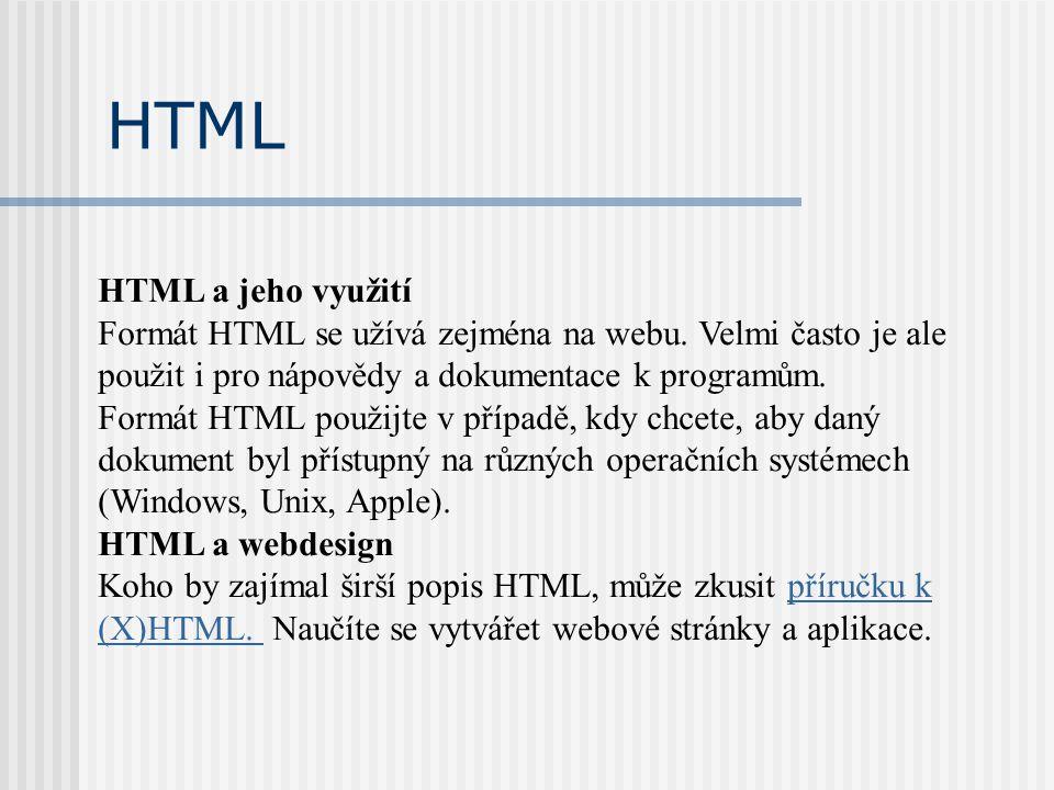 Příkazy jazyka HTML Příkazy jazyka tvoří tzv.tagy.
