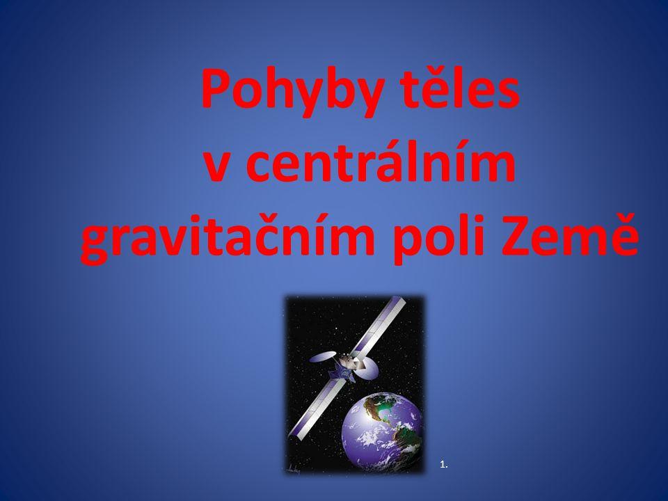 Pohyby těles v centrálním gravitačním poli Země 1.