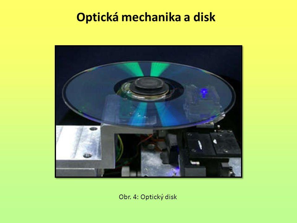 Optická mechanika a disk Obr. 4: Optický disk