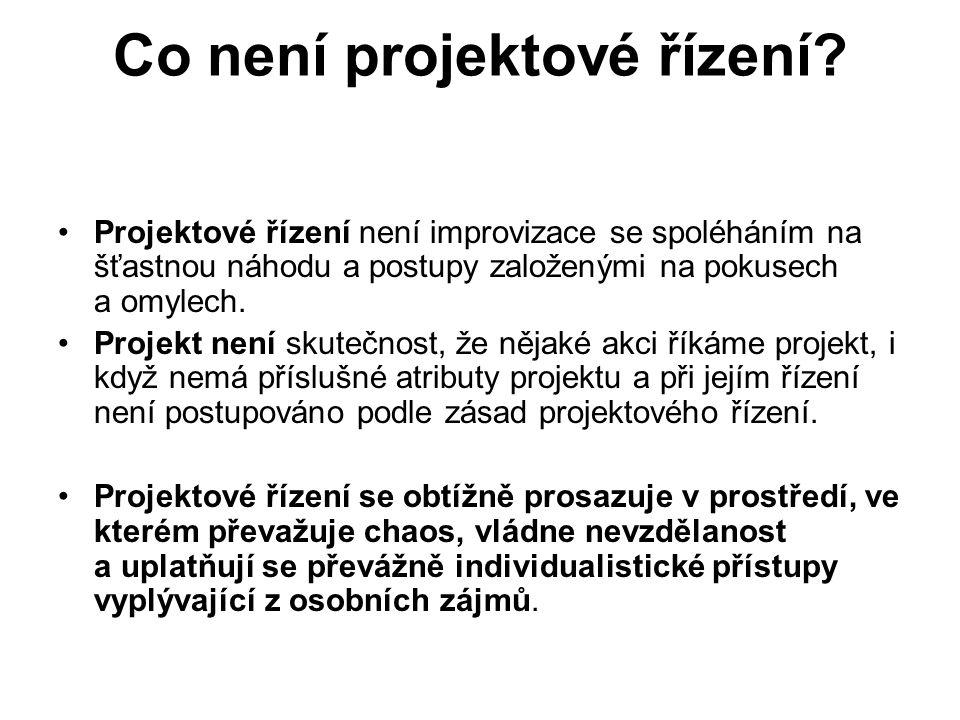 Co není projektové řízení.