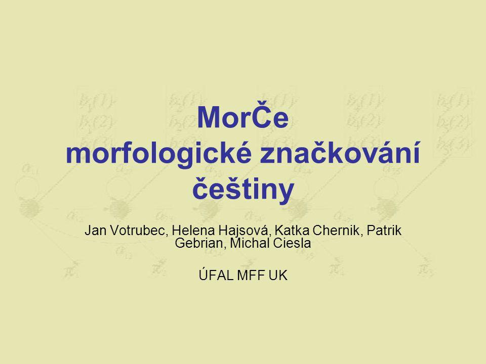 Morfologie češtiny homonymie aneb nejednoznačnosti Šel podle lesa.