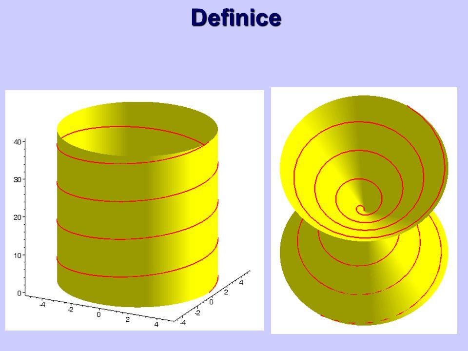 Hlavní normála, binormála V bodě T = X(7π/4) sestrojte hlavní normálu a binormálu šroubovice.