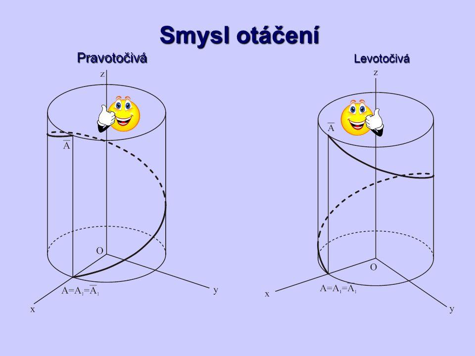Pravotočivá Smysl otáčení Levotočivá