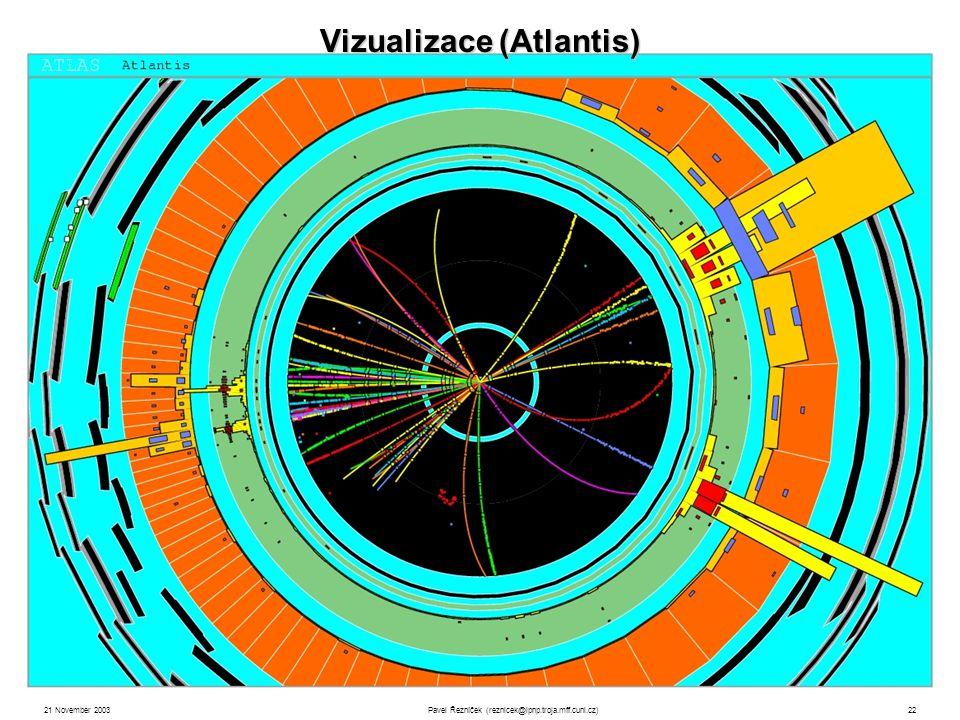 21 November 2003Pavel Řezníček (reznicek@ipnp.troja.mff.cuni.cz)22 Vizualizace (Atlantis)