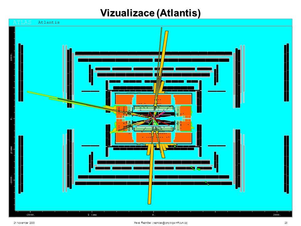 21 November 2003Pavel Řezníček (reznicek@ipnp.troja.mff.cuni.cz)23 Vizualizace (Atlantis)