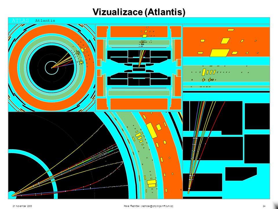 21 November 2003Pavel Řezníček (reznicek@ipnp.troja.mff.cuni.cz)24 Vizualizace (Atlantis)
