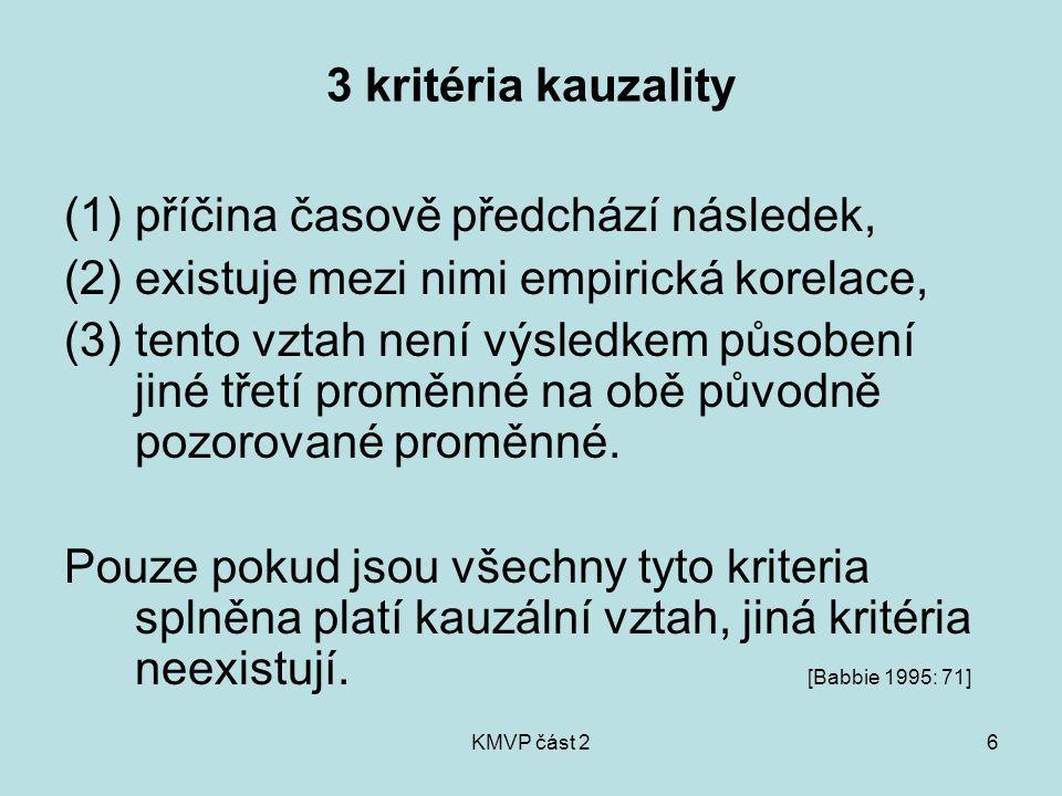 KMVP část 227 Pravidla uspořádání dotazníku (dramaturgie sledu otázek) 1.