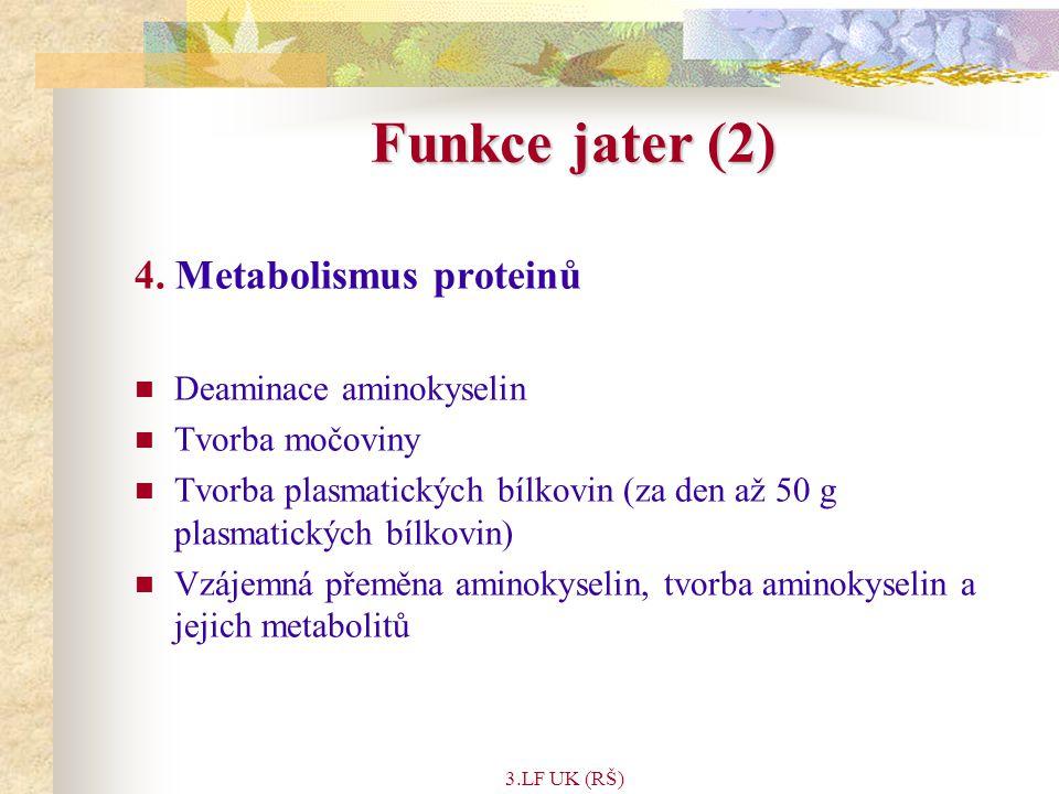 3.LF UK (RŠ) Minerály a stopové prvky ( 10 ) Selen Funkce: součást enzymu glutathion peroxidázy Zdroj: mořské produky, maso, chřest Denní potřeba: 50-200µg denně Deficience: Bylo prokázáno, při vyloučení dalších možných faktorů, že u některých typů rakoviny (jícen, žaludek, močový měchýř) se významně lišila koncentrace selenu v krevním séru pacientů a kontrolních osob.