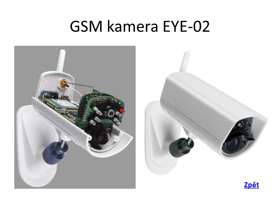 GSM kamera EYE-02 Zpět