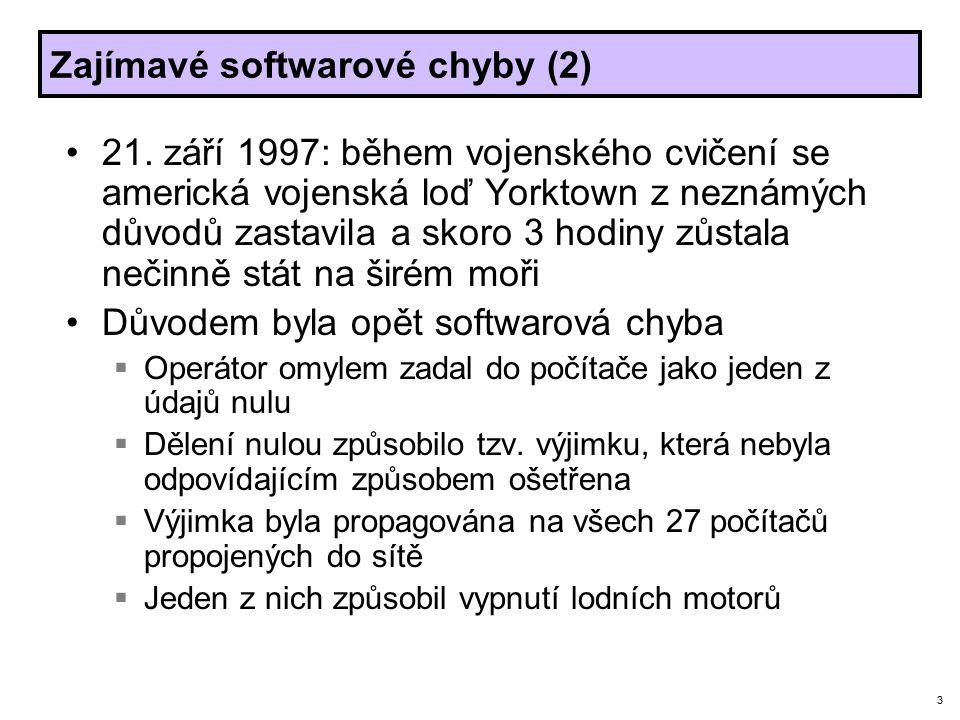 3 Zajímavé softwarové chyby (2) 21.