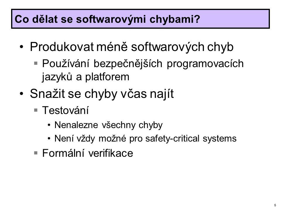 5 Co dělat se softwarovými chybami.