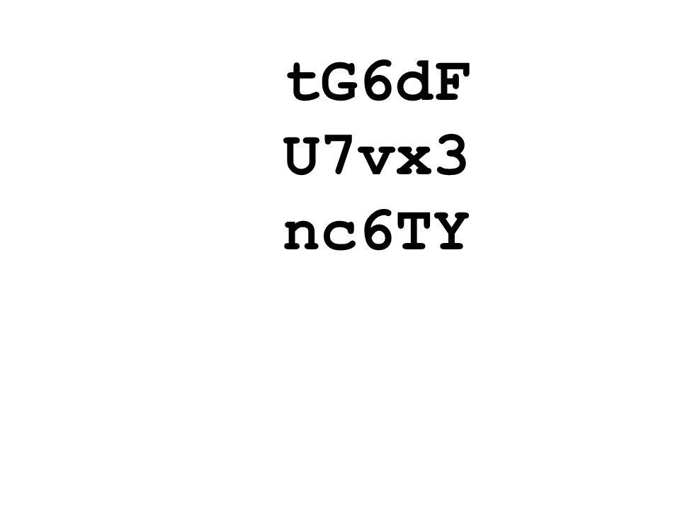 tG6dF U7vx3 nc6TY