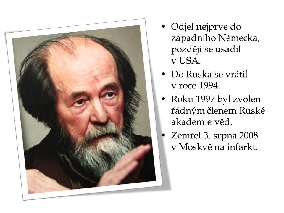 Odjel nejprve do západního Německa, později se usadil v USA. Do Ruska se vrátil v roce 1994. Roku 1997 byl zvolen řádným členem Ruské akademie věd. Ze
