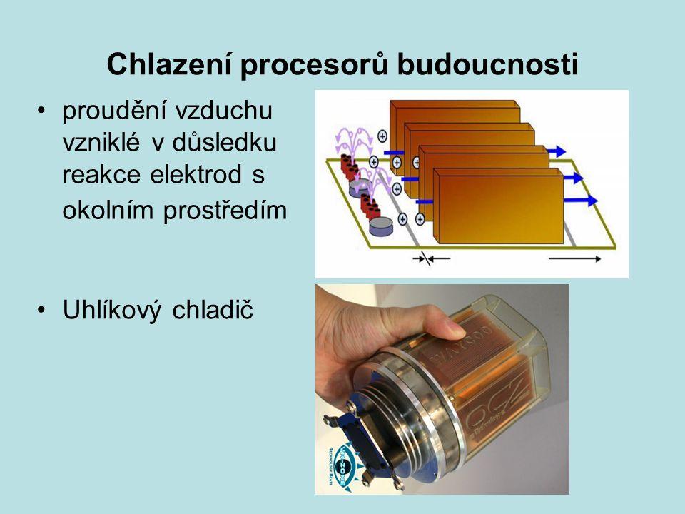 Chlazení procesorů budoucnosti proudění vzduchu vzniklé v důsledku reakce elektrod s okolním prostředím Uhlíkový chladič