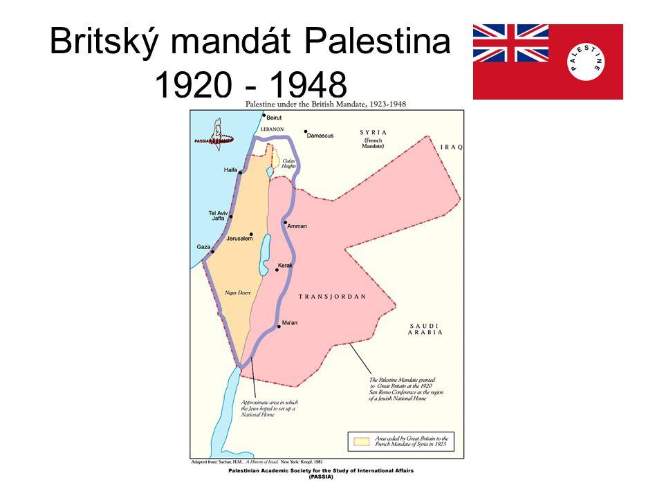 Britský mandát Palestina 1920 - 1948