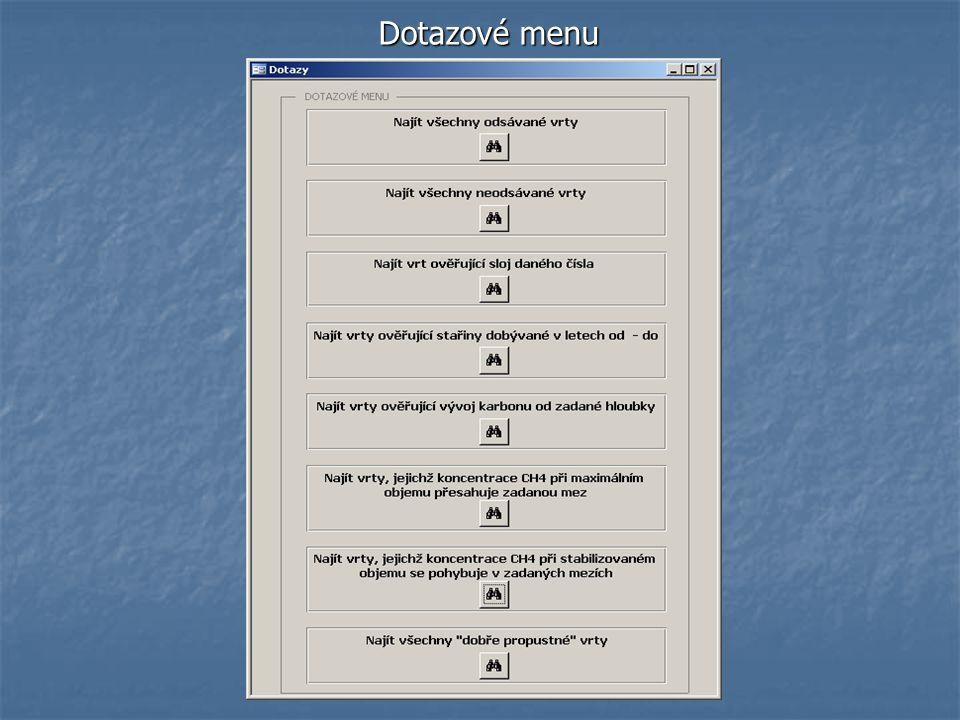 Dotazové menu
