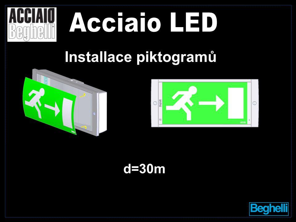 Installace piktogramů d=30m